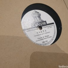 Discos de pizarra: 78 RPM GRACIA DE TRIANA. Lote 247205040