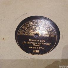 Discos de pizarra: 78 RPM HOMOKORD BARBERO DE SEVILLA. Lote 247587870