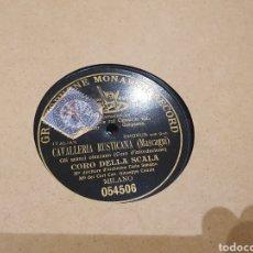 Discos de pizarra: CAVALLERIA RUSTICANA 78 RPM. Lote 247600085