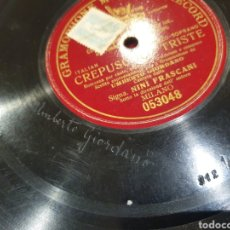 Discos de pizarra: 78 RPM CLASICA UMBERTO GIORDANO. Lote 247601570