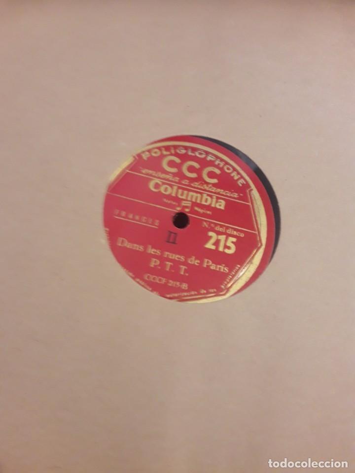 Discos de pizarra: Album con 12 discos gramola curso frances CCC - Foto 2 - 247659125