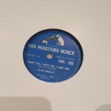 Discos de pizarra: 78 RPM ELVIS PRESLEY. Lote 247696575