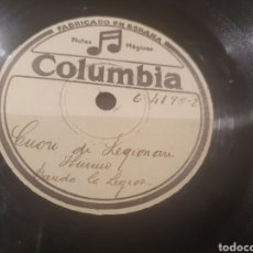Discos de pizarra: 78 RPM MARCHA DE LA LEGIÓN. Lote 247727200