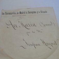 Discos de pizarra: AVE MARIA, POR JOSEFINA HUGUET. Lote 247962315