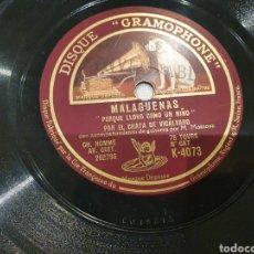 Discos de pizarra: 78 RPM CHATA VICALVARO. Lote 248752630