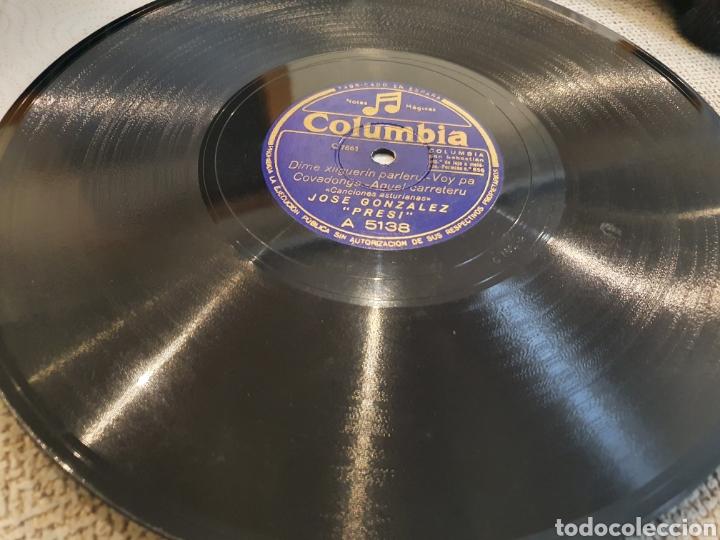 Discos de pizarra: 78 RPM ASTURIANO EL PRESI - Foto 4 - 248753025