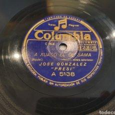 Discos de pizarra: 78 RPM ASTURIANO EL PRESI. Lote 248753025