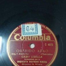 Disques en gomme-laque: ORQUESTA SIGFREDO RIBERA. MARCHITA. GABY UBILLA. Lote 248831185