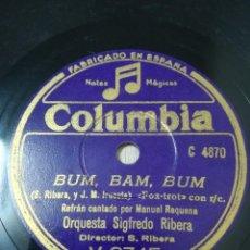Disques en gomme-laque: ORQUESTA SIGFREDO RIBERA. FOX LENTO TRISTESSE DE CHOPIN. Lote 248832695