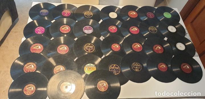 LOTE DE 31 DISCOS DE PIZARRA ARTISTAS INGLESES (Música - Discos - Pizarra - Otros estilos)
