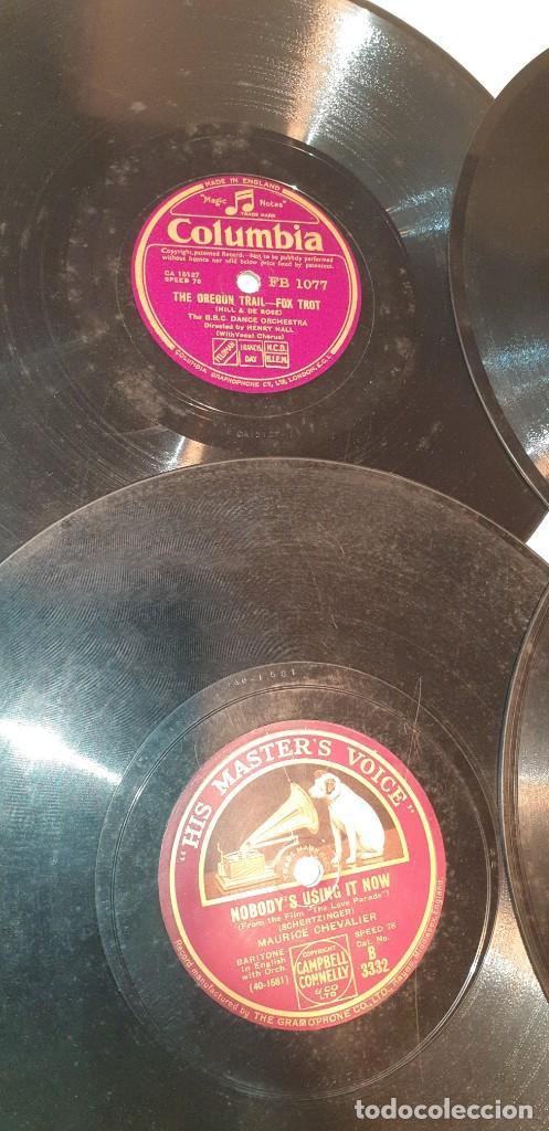 Discos de pizarra: Lote de 31 discos de pizarra artistas ingleses - Foto 4 - 249319890