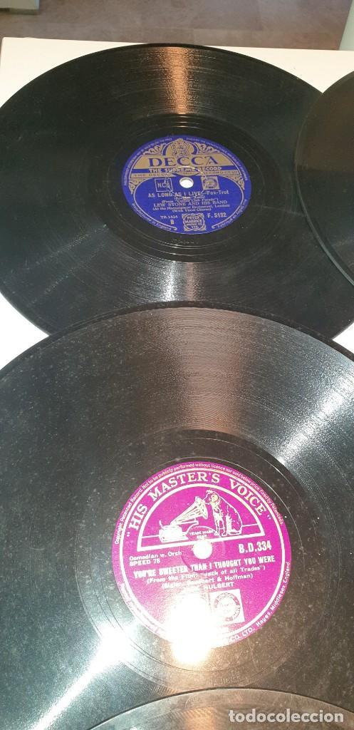 Discos de pizarra: Lote de 31 discos de pizarra artistas ingleses - Foto 5 - 249319890