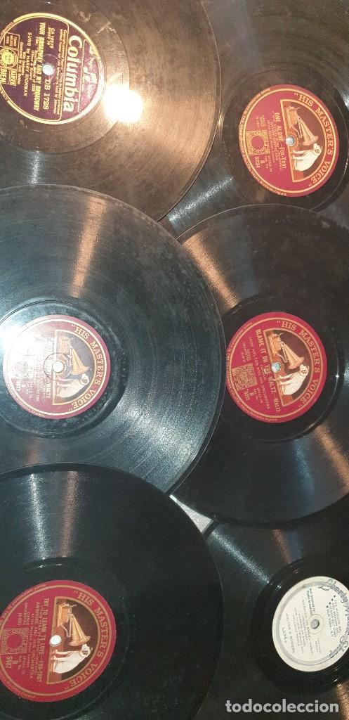Discos de pizarra: Lote de 31 discos de pizarra artistas ingleses - Foto 6 - 249319890