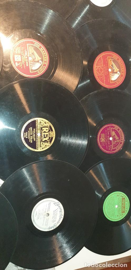 Discos de pizarra: Lote de 31 discos de pizarra artistas ingleses - Foto 7 - 249319890
