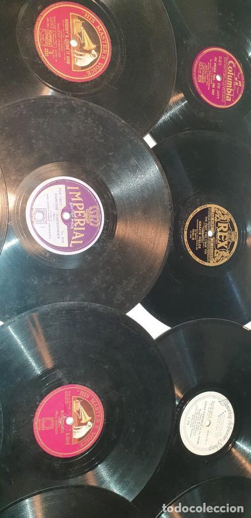 Discos de pizarra: Lote de 31 discos de pizarra artistas ingleses - Foto 8 - 249319890