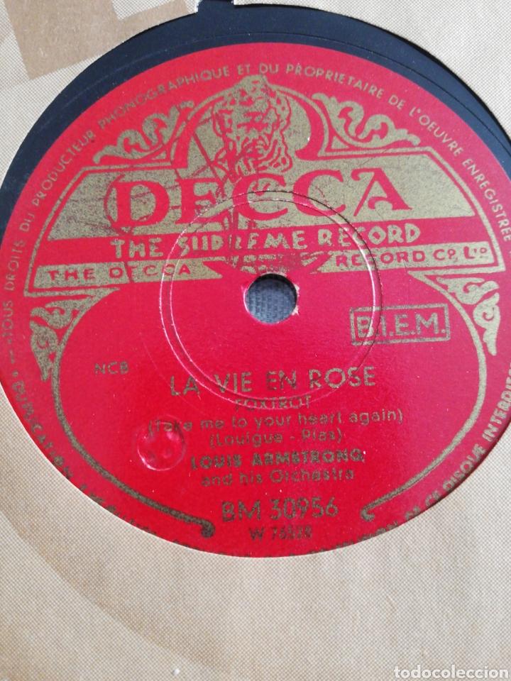 DISCO 78RPM LOUIS ARMSTRONG- LA VIE EN ROSE/CEST SI BON (Música - Discos - Pizarra - Jazz, Blues, R&B, Soul y Gospel)
