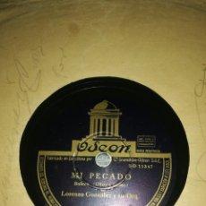 Discos de pizarra: DISCO 78RPM LORENZO GONZALEZ- COMO DUELE UNA TRAICION/MI PECADO. Lote 249390495