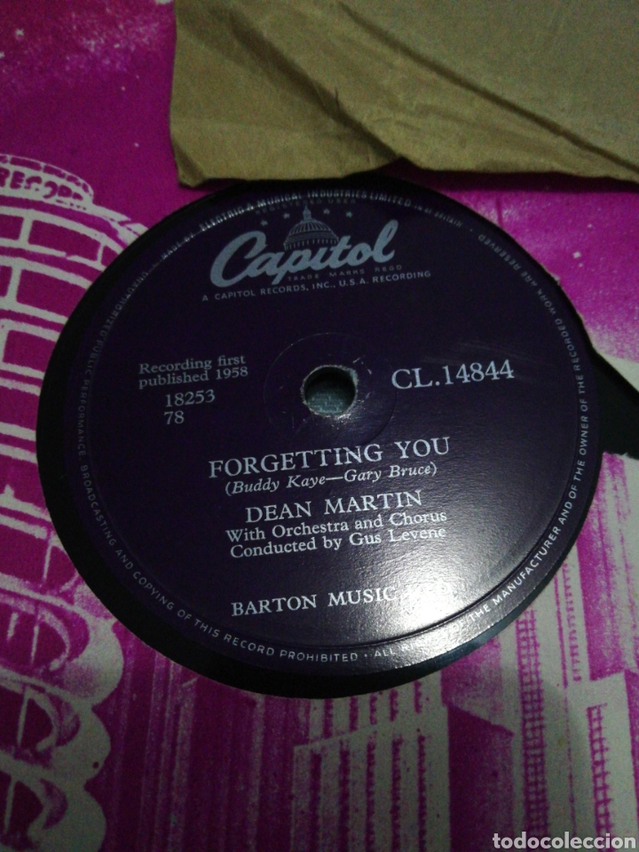 Discos de pizarra: Lote 3 discos de 78rpm FRANK SINATRA Y DEAN MARTIN - Foto 2 - 251262975