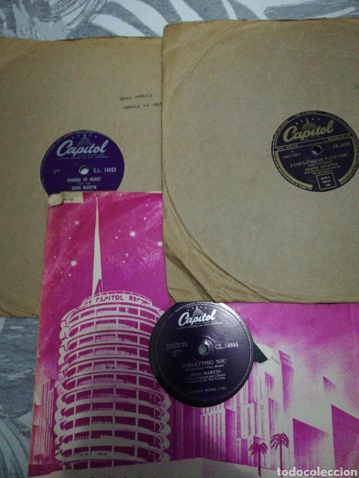 LOTE 3 DISCOS DE 78RPM FRANK SINATRA Y DEAN MARTIN (Música - Discos - Pizarra - Jazz, Blues, R&B, Soul y Gospel)