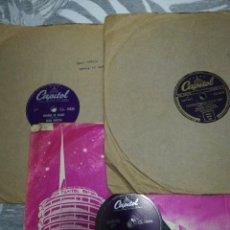 Discos de pizarra: LOTE 3 DISCOS DE 78RPM FRANK SINATRA Y DEAN MARTIN. Lote 251262975