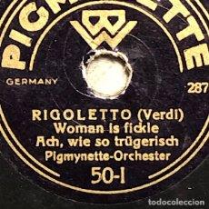Discos para gramofone: 78 RPM - PIGMYNETTE ORCHESTER - BARCAROLE / RIGOLETTO. Lote 251927200