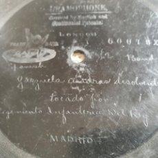 Discos de pizarra: 78 RPM BERLIRNER BANDA REGIMIENTO DEL REY. Lote 252003625