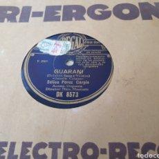 Discos de pizarra: 78 RPM SELICA PEREZ CARPIO. Lote 252145570