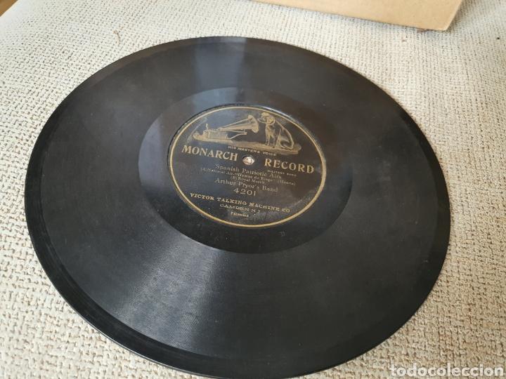 Discos de pizarra: 78 RPM HIMNO DE RIEGO Y marcha Real Española - Foto 2 - 252147340