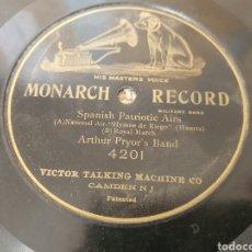 Discos de pizarra: 78 RPM HIMNO DE RIEGO Y MARCHA REAL ESPAÑOLA. Lote 252147340