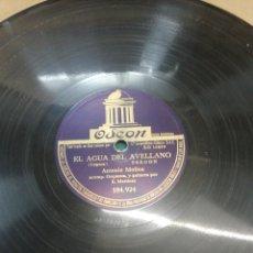 Discos de pizarra: DISCO 78RPM ANTONIO MOLINA - AGUA DEL AVELLANO / A LA SOMBRA DEL. BAMBÚ. Lote 252167575