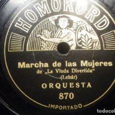 Discos de pizarra: PIZARRA - HOMOPHON COMPANY GMBH 861, SIEMPRE CON GARBO. EILEMBRERG - MARCHA DE LAS MUJERES LEHAR. Lote 252340965