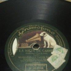 Discos de pizarra: DISCO 78RPM PASTORA IMPERIO- TIENTOS IMPERIALES/LA NIETA DE CARMEN. Lote 252392130