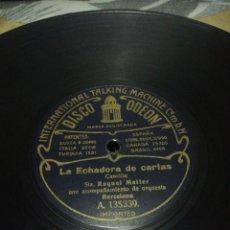 Discos de pizarra: DISCO 78RPM RAQUEL MELLER- LA ECHADORA DE CARTAS/ LA MODISTILLA. Lote 252392620