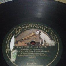 Discos de pizarra: DISCO 78RPM PASTORA IMPERIO - S. M. EL SCHOTIS / CA UNO A LO SUYO. Lote 252393575