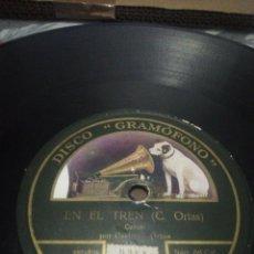 Discos de pizarra: DISCO 78RPM CASIMIRO ORTAS - LA CONFESION / EN EL TREN. Lote 252393855