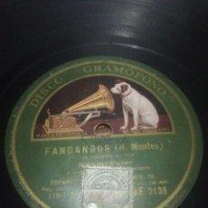 Discos de pizarra: DISCO 78RPM NIÑO DEL MUSEO - MALAGUEÑA / FANDANGOS. Lote 252395955