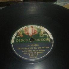 Discos de pizarra: DISCO 78RPM NIÑA DE LOS PEINES - TARANTAS DE LA GRABIELA / BULERIA NUEVA N°2. Lote 252396545