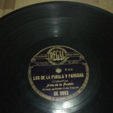 Discos de pizarra: DISCO 78RPM - NIÑA DE LA PUEBLA - YO VI MI NOVIO MORIR / LOS DE LA PUEBLA Y PARADAS. Lote 252550720