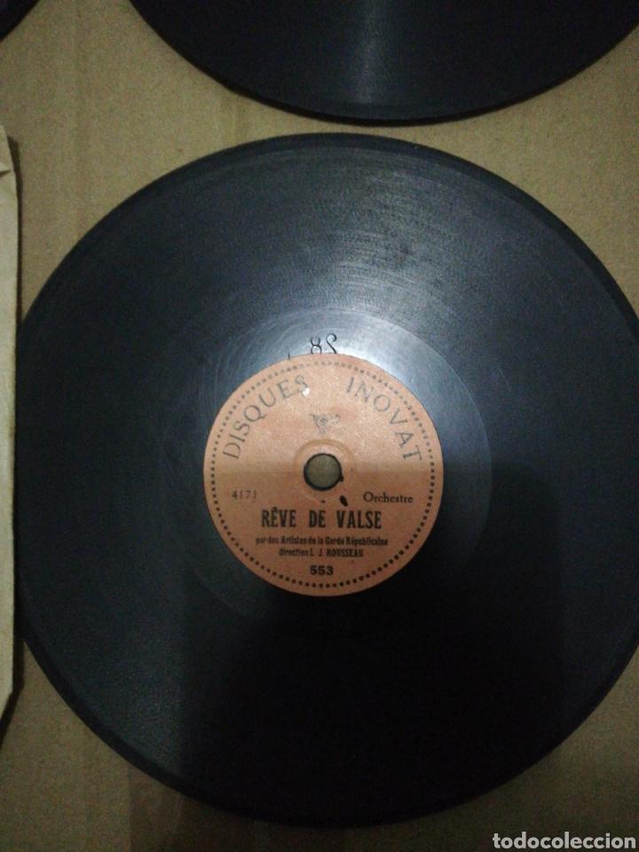 Discos de pizarra: Lote 4 Mini discos 78rpm INOVAT Y PICMYNETTE - Foto 4 - 252551745