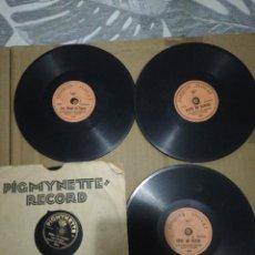 Discos de pizarra: LOTE 4 MINI DISCOS 78RPM INOVAT Y PICMYNETTE. Lote 252551745