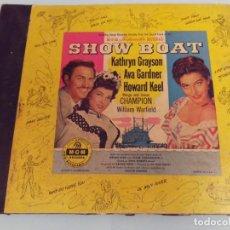 Discos de pizarra: ALBUM BSO DEL MUSICAL SHOW BOAT (MAGNOLIA) VERSIÓN FILM DE 1951 CON 4 DISCOS PIZARRA METROLITE MGM. Lote 252660035