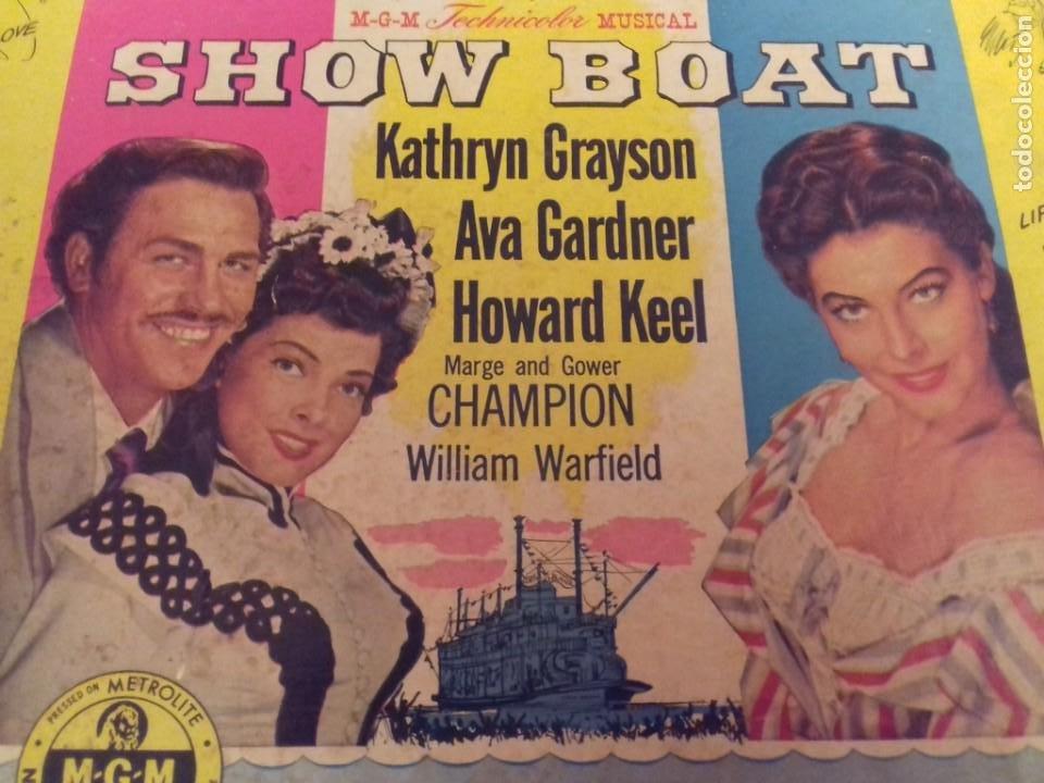 Discos de pizarra: Album BSO del musical SHOW BOAT (MAGNOLIA) versión film de 1951 con 4 discos pizarra METROLITE MGM - Foto 2 - 252660035