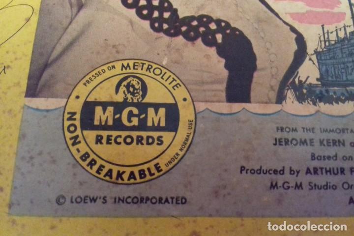 Discos de pizarra: Album BSO del musical SHOW BOAT (MAGNOLIA) versión film de 1951 con 4 discos pizarra METROLITE MGM - Foto 4 - 252660035
