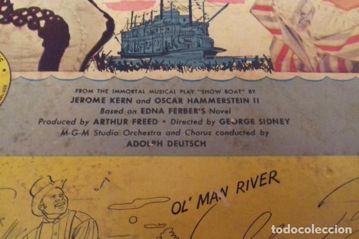Discos de pizarra: Album BSO del musical SHOW BOAT (MAGNOLIA) versión film de 1951 con 4 discos pizarra METROLITE MGM - Foto 3 - 252660035