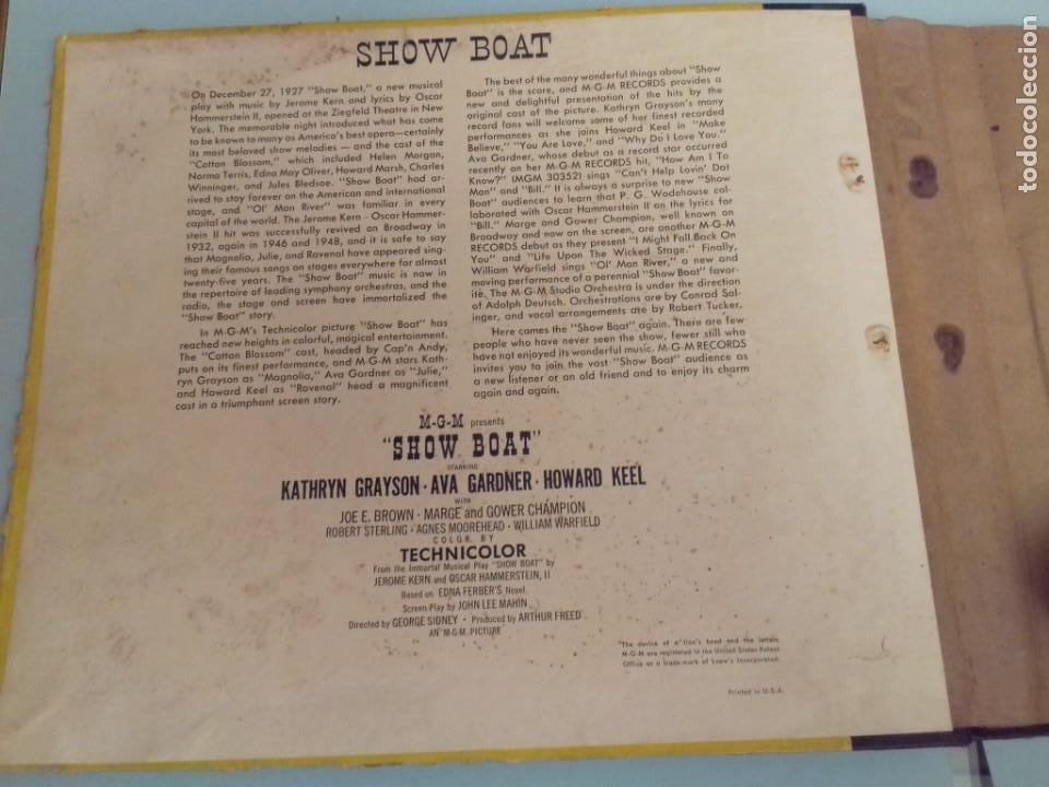 Discos de pizarra: Album BSO del musical SHOW BOAT (MAGNOLIA) versión film de 1951 con 4 discos pizarra METROLITE MGM - Foto 8 - 252660035