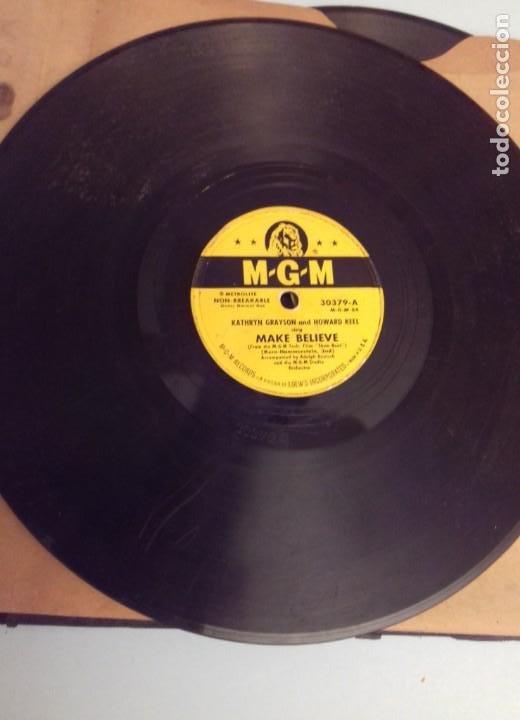 Discos de pizarra: Album BSO del musical SHOW BOAT (MAGNOLIA) versión film de 1951 con 4 discos pizarra METROLITE MGM - Foto 9 - 252660035