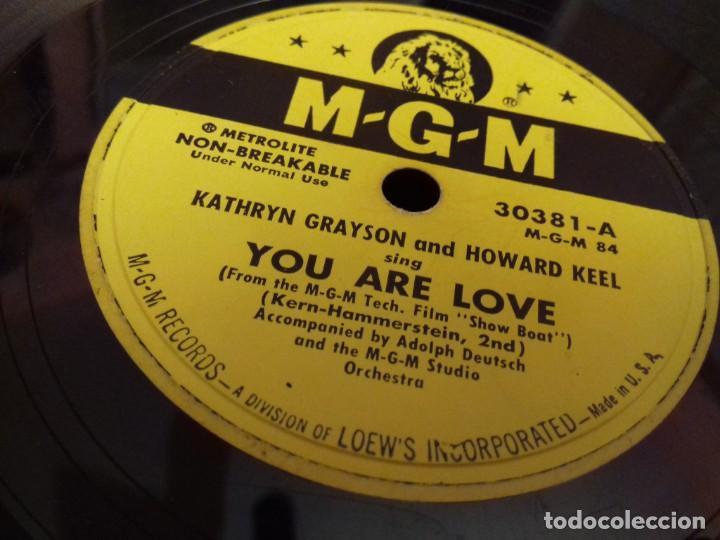 Discos de pizarra: Album BSO del musical SHOW BOAT (MAGNOLIA) versión film de 1951 con 4 discos pizarra METROLITE MGM - Foto 12 - 252660035