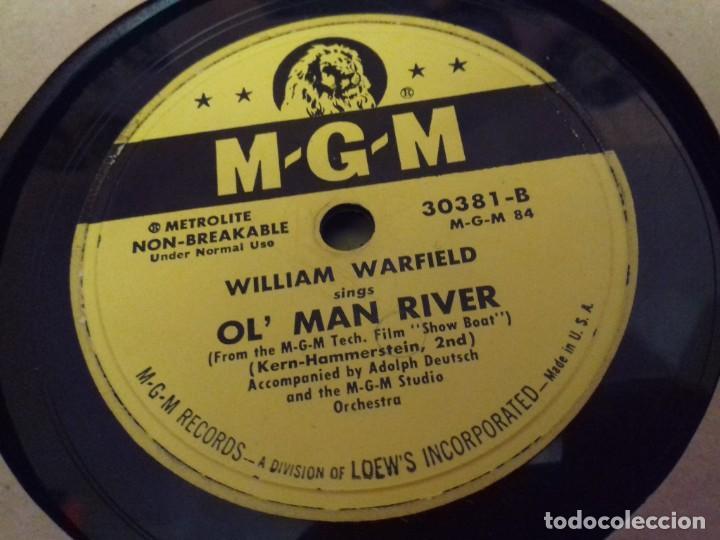 Discos de pizarra: Album BSO del musical SHOW BOAT (MAGNOLIA) versión film de 1951 con 4 discos pizarra METROLITE MGM - Foto 13 - 252660035