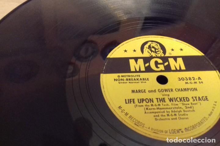 Discos de pizarra: Album BSO del musical SHOW BOAT (MAGNOLIA) versión film de 1951 con 4 discos pizarra METROLITE MGM - Foto 14 - 252660035