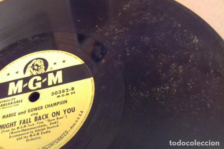 Discos de pizarra: Album BSO del musical SHOW BOAT (MAGNOLIA) versión film de 1951 con 4 discos pizarra METROLITE MGM - Foto 15 - 252660035